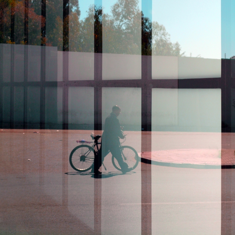 MAN WiTH BiCYCLE THROUGH A GRiD No. 2.jpg