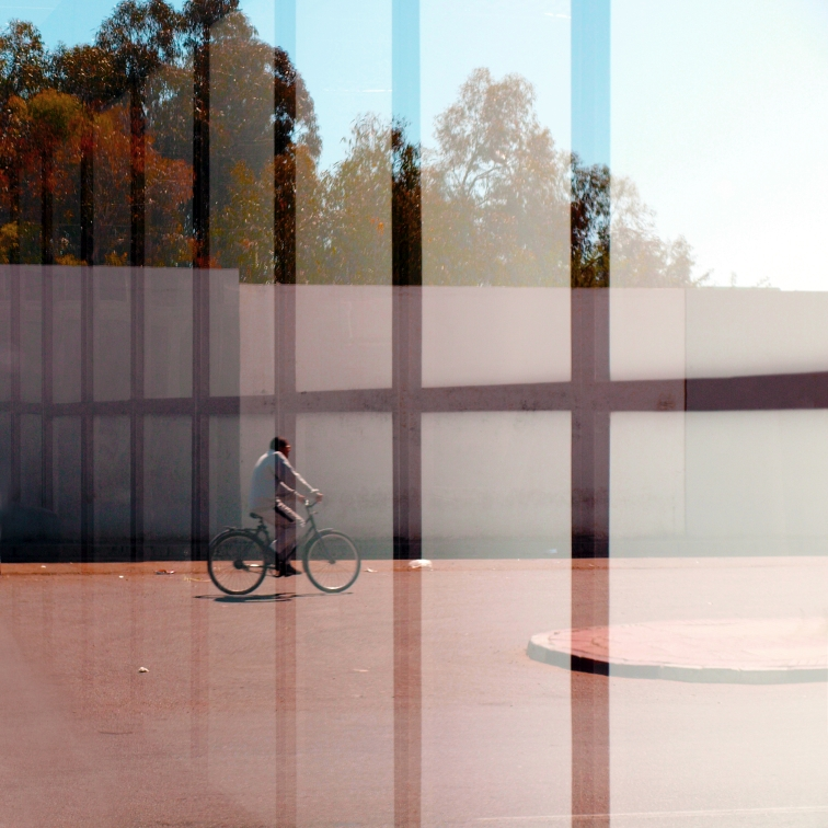 MAN WiTH BiCYCLE THROUGH A GRiD No. 1.jpg